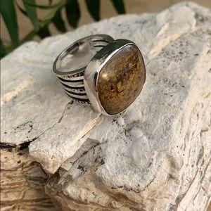 Vintage Silpada bronzite ring